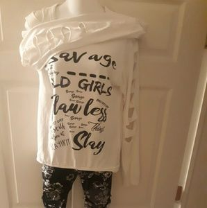 Womens shirt and leggings outfit